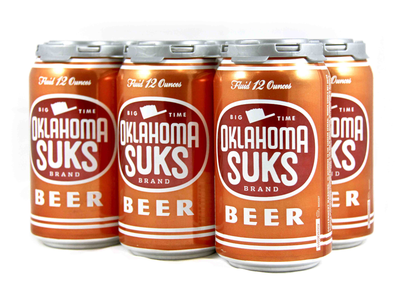 OU Sucks cans independence packaging design ou texas