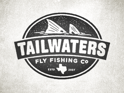 Tailwaters fishing logo fly shop reds texture