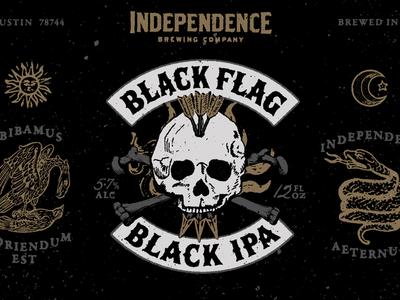 Black Flag package design independence beer can
