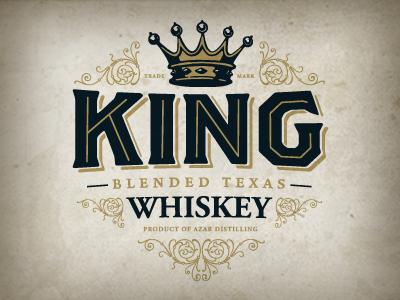 King logo whiskey texas king spirits black gold