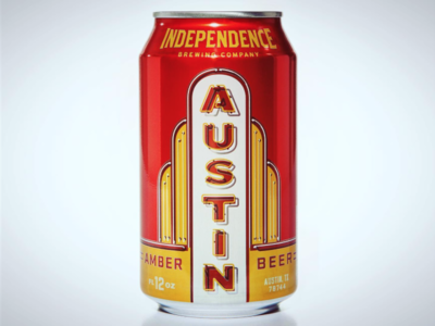Austin Amber austin neon type design package can beer craft texas independence