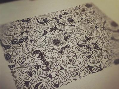 Wallpaper idea sketch flourish ink