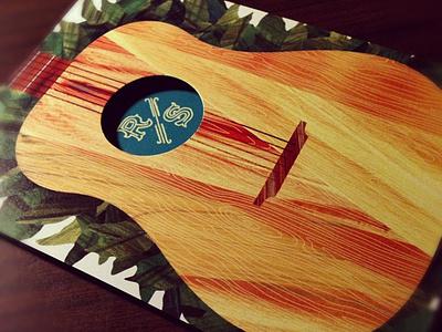 Wedding Invite illustration invitation texture guitar leaves