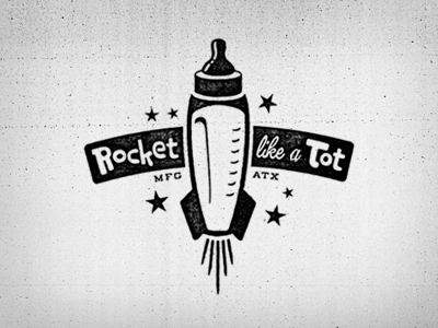 Rocket Like A Tot By Canales Co On Dribbble