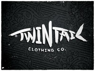 Twintail Clothing Co type fish pattern hand drawn clothing apparel logo bonefish