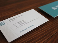 Locke business cards have arrived