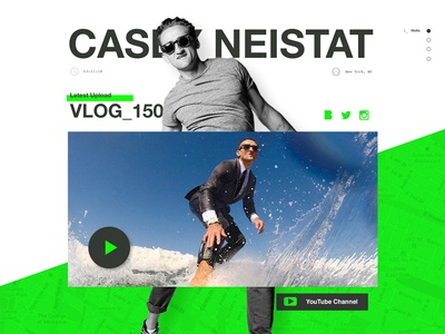 CASEY.NYC green beme one pager vlog casey neistat concept web design