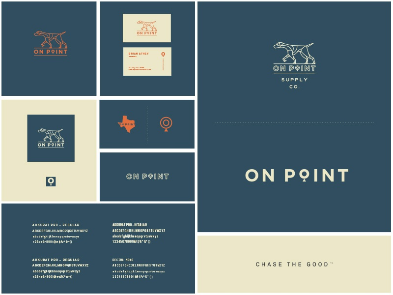 On Point Brand Sheet style guide german shorthaired pointer texas mark icon identity logo branding
