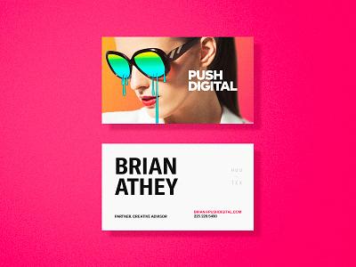 Networking push digital stationery branding identity business cards