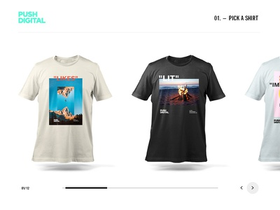 Push Merch – 2019 design push apparel web shop merch