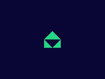Approved box green glyph icon envelope branding identity logo