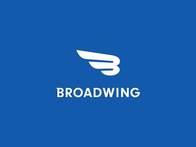 Broadwing Logo tech blue wordmark logo branding identity