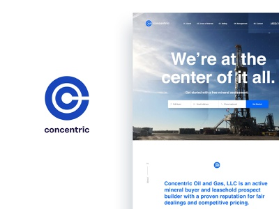 At the center of it all web design responsive texas oil and gas idenity brand logo website