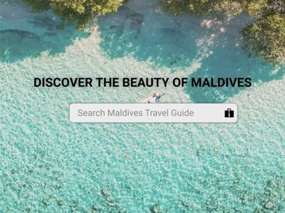 Travel Guide travel guide maldives figmadesign figma ux ui design