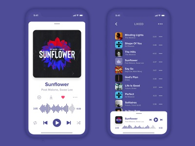Music Player Concept concept design ux ui uiuxdesign ui design uiux uidesign music player ui music player music app ui music app music iphone app ios app design audio app app