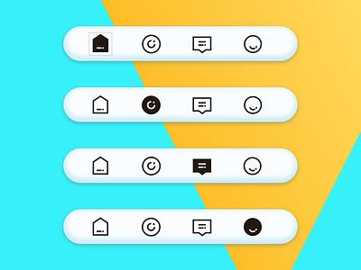 新潮APP tab bar 设计 illustration design icon ui