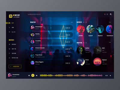 Music PC music ui ux design