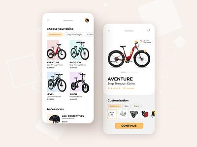 eBike App ecommerce