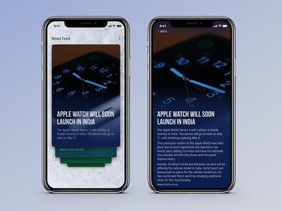 News App Concept UI