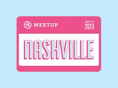 Dribbble Meetup Nashville 2013