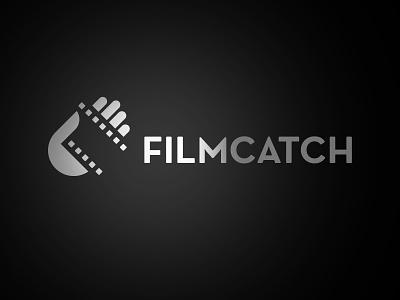 FILMCATCH film filmstrip hand movie logo mark kevin burr ocular ink nashville