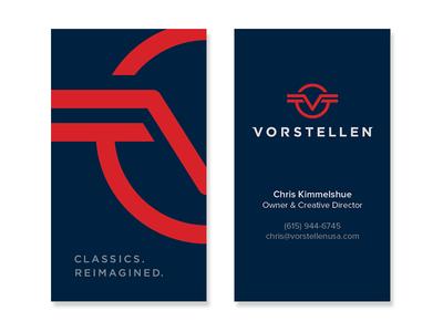 Vorstellen ( logo + business card ) logo business card brand identity mark ocular ink kevin burr nashville wings