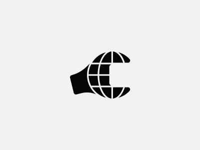 Rebuild The World wrench icon mark branding brand logo construction tool build earth globe world