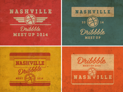 Dribbble Meetup : The Dirty South logo meetup dirty south nashville texture vintage tin retro
