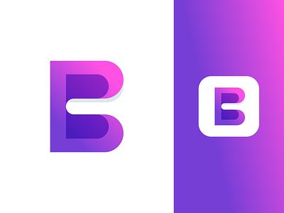 B Minus logo design gradient symbol typography monograms lettering b monogram branding brand icon mark logo minus