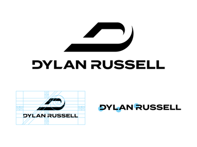 Dylan Russell negative space black and white letter letters monogram mark typography custom font logotype logomark icon logo branding brand identity sports branding sports logos sports logo sports