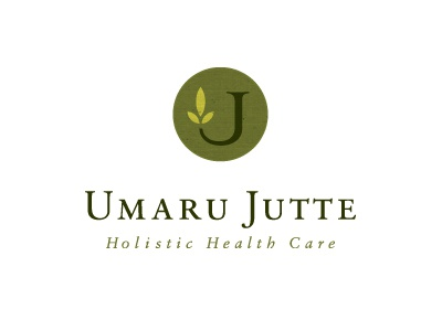 Umarujutte2 holistic health care logo organic natural nature leaf medicine herbal