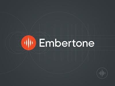 Embertone logo music instrument sample fire wave equalizer