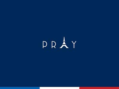 Pray for Paris monument icon mark eiffel tower logo pray paris