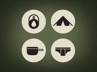 Camping Survival Icons