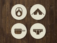Camping Survival Icons 2