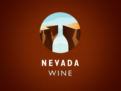 Nevada Wine logo nevada wine grand canyon rock sky ocular ink kevin burr