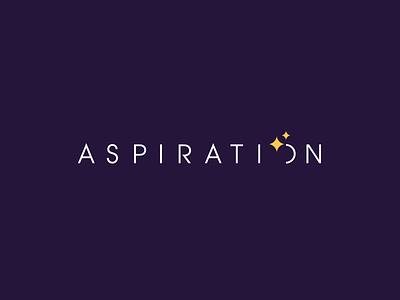 Aspiration branding icon logotype logo sky galaxy aspiration aspire stars moon