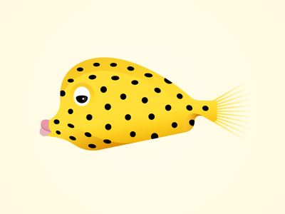 Box Fish marine water sea ocean fish gillustrations gillustration