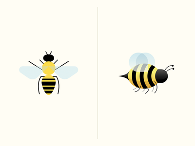 Bee Stationery honey logo mark icon wings flying fly insect bug stationery bee