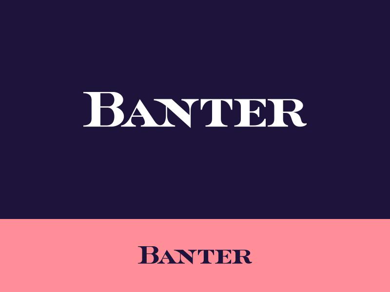 Banter custom lettering typography type logo logotype font thick chunky heavy serif