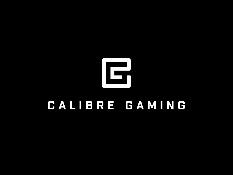 Calibre Gaming type typography mark icon logo letter cg monogram gaming