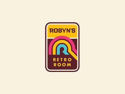 Robyn's Retro Room letter monogram icon mark logo enclosure badge colors old vintage retro