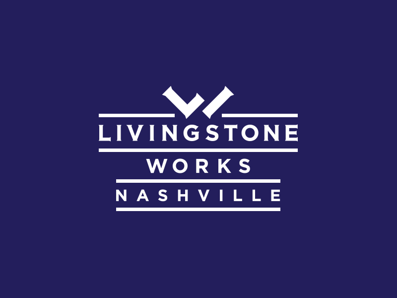 Livingstone Works branding brand icon lw logo monogram craftsman construction handy man