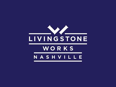 Livingstone Works branding brand icon lw logo monogram craftsman construction handy man