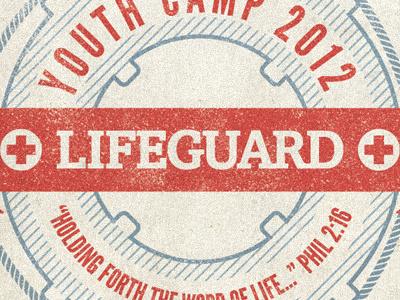 Lifeguard Youth Camp T-shirt tshirt t-shirt shirt lifeguard vintage worn red cross youth camp