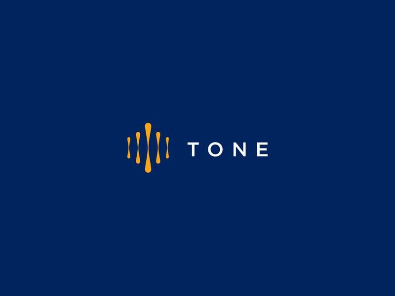 Tone music sound wave magazine audio mark icon branding brand logo