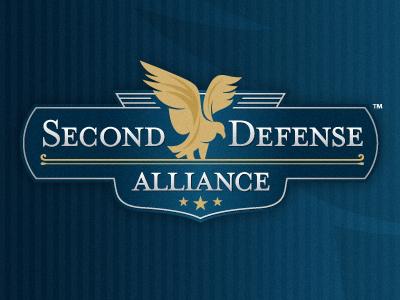 Second Defense Alliance logo eagle badge shield stars kevin burr ocular ink nashville