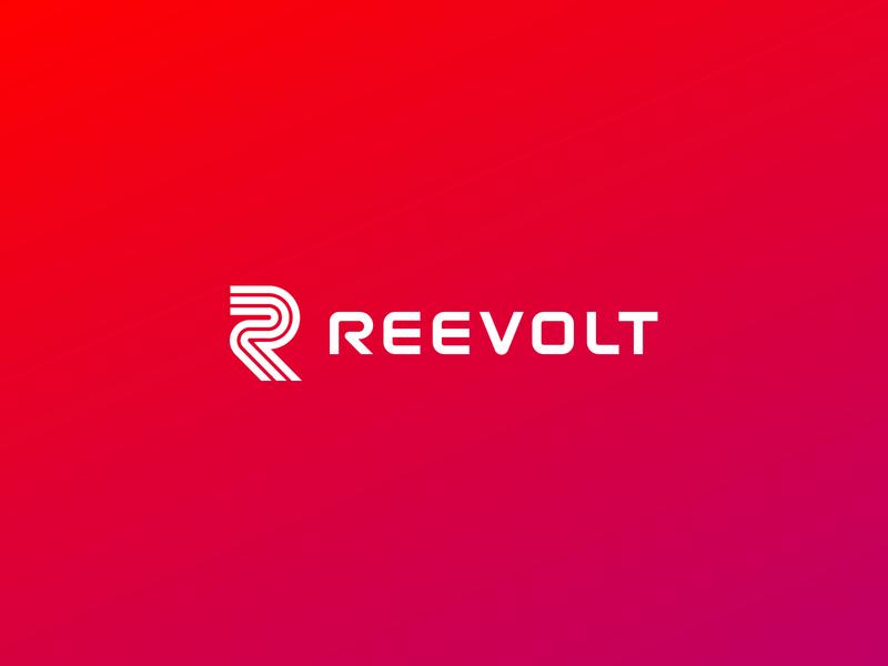 Reevolt Logo burr kevin ink ocular logotype typogaphy gradient branding brand mark icon logo
