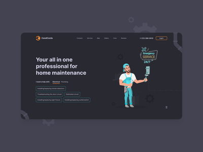CandCords - First Screen website repair design ui ux firstscreen homepage