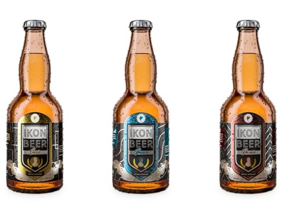 CGI Beer bottles design 3d art